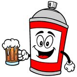 Spray Can with Beer. A vector illustration of a Spray Can with Beer Royalty Free Stock Photo