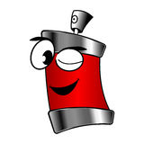 Spray can cartoon Royalty Free Stock Images