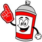 Spray Can with Foam Finger Royalty Free Stock Photo