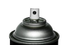 Spray can nozzle stock photo