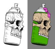 Spray Can with Skull mask Royalty Free Stock Photo