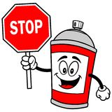 Spray Can with Stop Sign. A vector illustration of a Spray Can with Stop Sign Stock Images