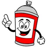 Spray Can Talking. A vector illustration of a Spray Can Talking Royalty Free Stock Image