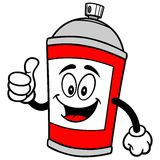 Spray Can with Thumbs Up. A vector illustration of a Spray Can with Thumbs Up Royalty Free Stock Image