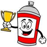 Spray Can with Trophy Royalty Free Stock Images