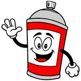 Spray Can Waving. A vector illustration of a Spray Can Waving Stock Images