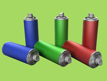 Spray cans Stock Images