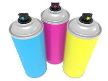 Spray cans Royalty Free Stock Images