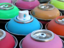 Spray cans Royalty Free Stock Image