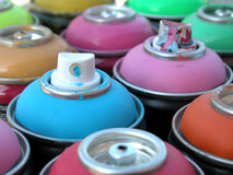 Spray cans Stock Image