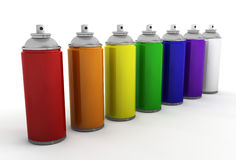 Spray cans Stock Photo