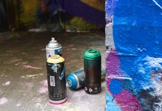 Spray Cans royalty free stock photography