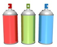 Spray cans Stock Photography