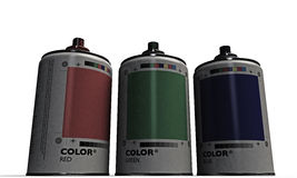 Spray cans Stock Photos