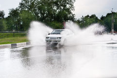 Spray from the car Royalty Free Stock Photography