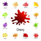 spray of cherry juice icon. Detailed set of color splash. Premium graphic design. One of the collection icons for websites, web stock illustration