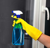 Spray for cleaning window Stock Images