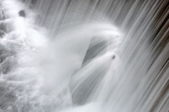 The waterfall splash close-up Stock Image