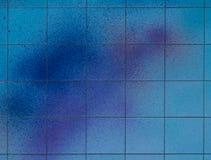 Spray der blauen Farbe Stockbilder