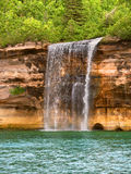 Spray Falls and Lake Superior Royalty Free Stock Photo