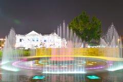 Spray fountain Stock Photography