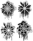 Spray grunge snowflakes Stock Images