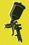 Spray gun. Illustration of spray gun with accessory Royalty Free Stock Image