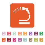 The spray gun icon. Irrigation and watering symbol. Flat. Vector illustration. Button Set Stock Images