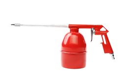 Spray gun of red color. Royalty Free Stock Image
