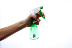 Spray in the hand Royalty Free Stock Photography