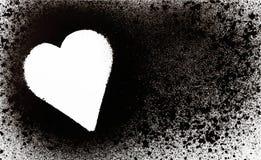Spray heart Royalty Free Stock Photo