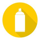 Spray icon with long shadow Royalty Free Stock Photos