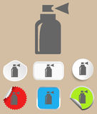 Spray icon - vector illustration. Flat design style Stock Photo