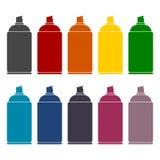 Spray icons set Stock Photo