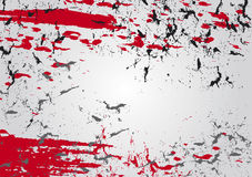 Spray ink background. Spray ink abstract background in red and black on grey gradient Stock Image