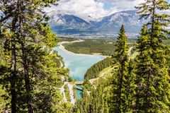 Spray Lake and Canmore Royalty Free Stock Photos