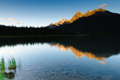 Spray Lakes Royalty Free Stock Photography