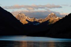 Spray Lakes. Kananaskis Country  Alberta at Daybreak Stock Image