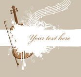 Spray and music. Background with texture spray and music with violin and bow Royalty Free Stock Photography
