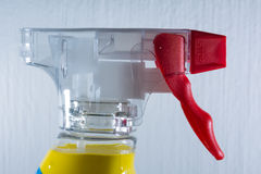 Spray Nozzle Bottle Mechanism Front Foam Cleaning Supply Detail Red Royalty Free Stock Photo