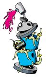 Spray octo Stockbilder