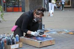 Spray paint art Royalty Free Stock Image