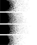 Spray paint banner detail in black over white Royalty Free Stock Images