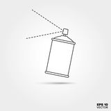 Spray Paint Can Line Icon Stock Images