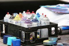 Spray Paint Cans Stock Images