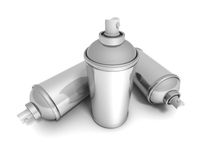 Spray Paint Cans On White Background Royalty Free Stock Images