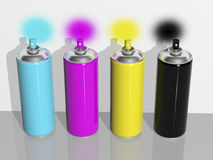 Spray paint cmyk Stock Photo