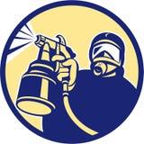 Spray Paint Gun Painter Spraying Retro Stock Image