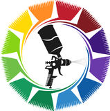 Spray paint logo Stock Image