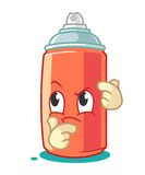Spray Paint Mascot Cartoon Vector Illustration Think Stock Image